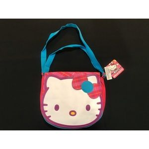 Hello Kitty Pink and White Plaid Bag